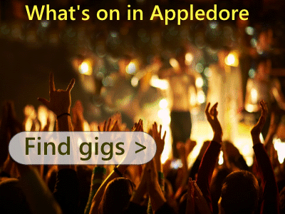 Appledore events with live music. Gigs in Appledore Bideford area.