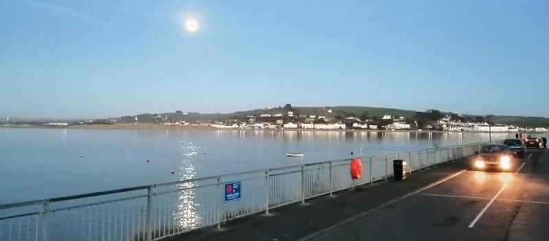 Moon from Appledore looking towards Instow across River Torridge